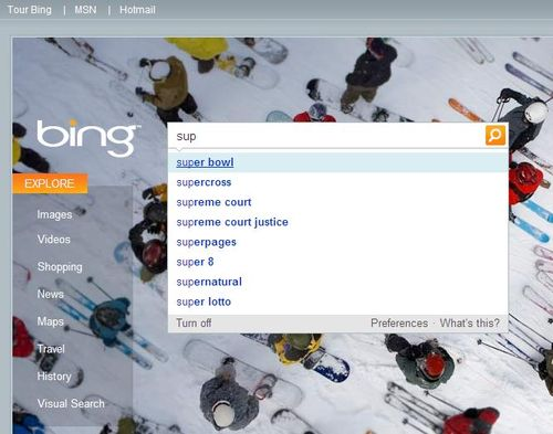 Bing-auto-suggest