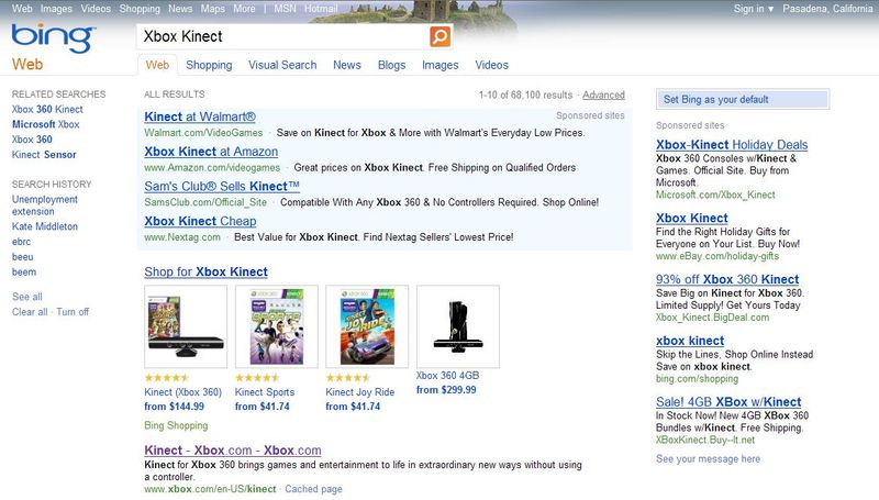Cyber-monday-xbox-kinect-bing-search-term