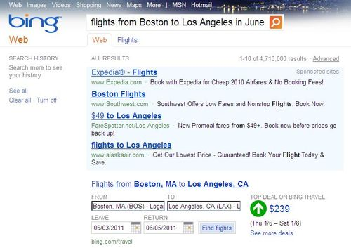 Bing-travel-one-click