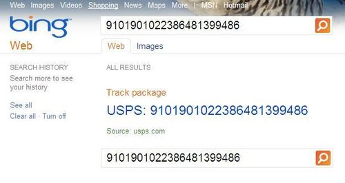 Bing-usps-package-tracking