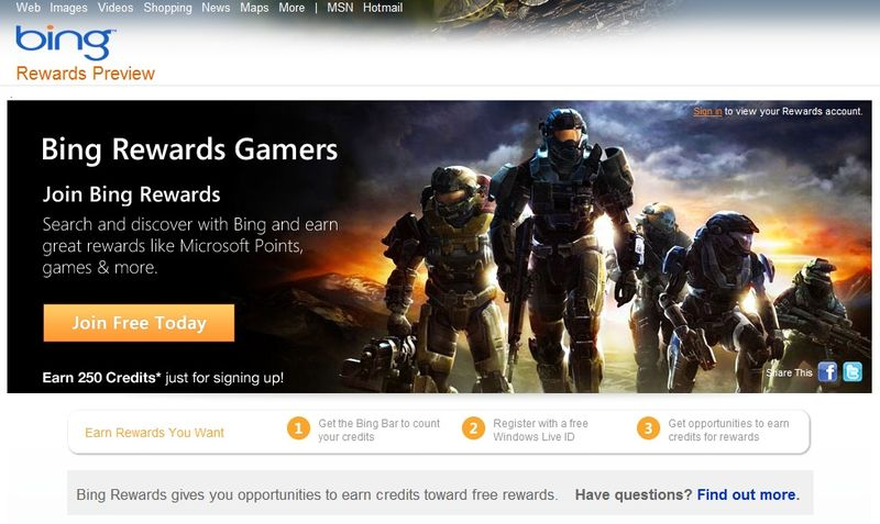 Bing-rewards-gamers