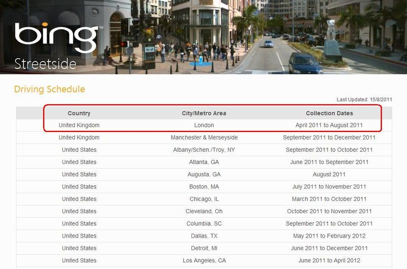Bing-street-side-driving-schedule-august-2011