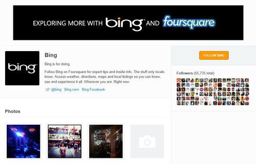 Bing-foursquare