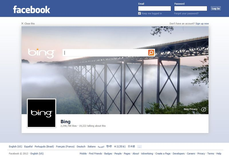 Facebook-logout-page-bing-search-box